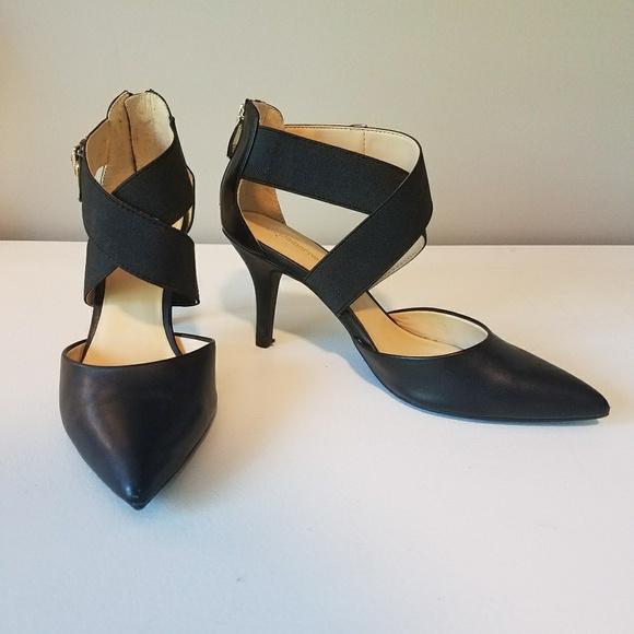 4566dea0088 Liz Claiborne Shoes - Black Pointed Toe Keegan Pumps